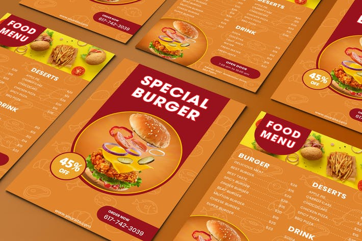 Thumbnail for Fast Food  Flyer Two Sided Menu List Template