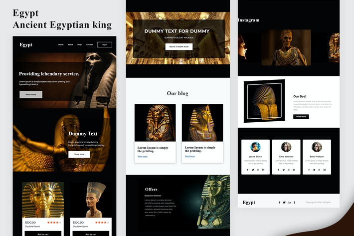 Thumbnail for Egypt - Ancient Egyptian king Email Newsletter