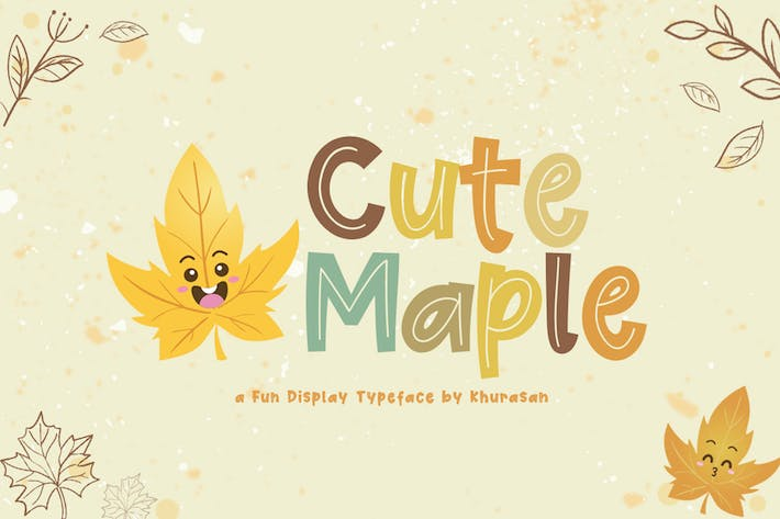 Thumbnail for Cute Maple Font