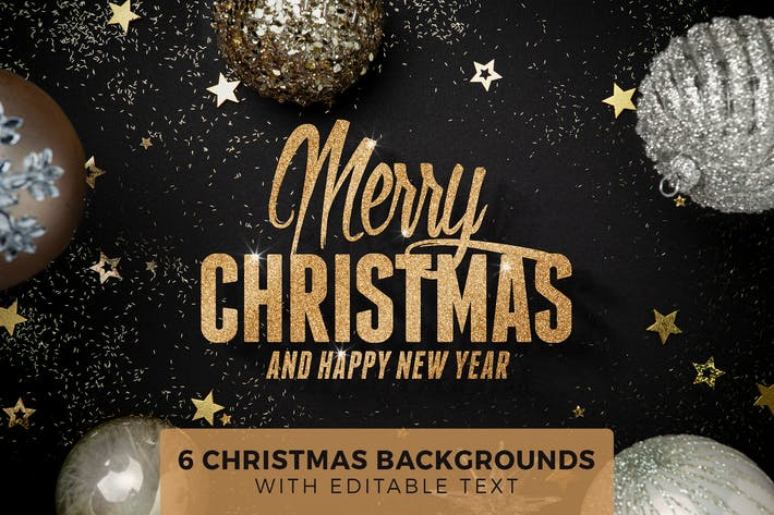 Thumbnail for 6 Christmas Backgrounds with Editable Text