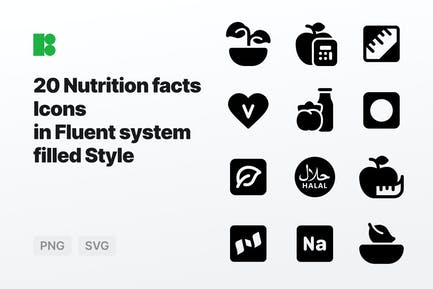 Fluent system filled - Nutrition facts