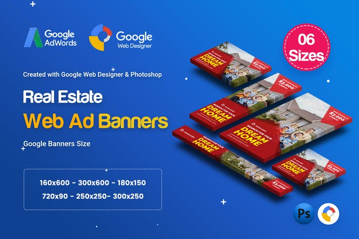 Thumbnail for C31 - Real Estate HTML5 Ad - GWD & PSD