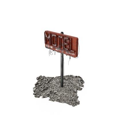 Destroyed Motel Sign