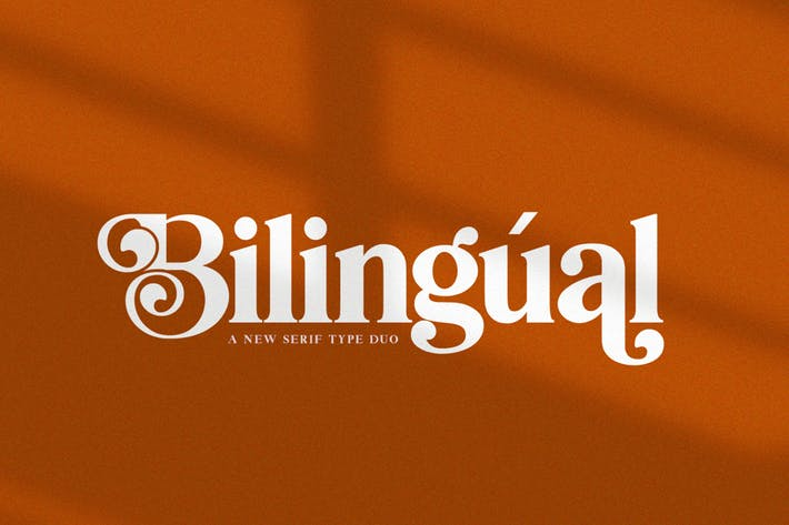 Thumbnail for Bilingüe Con serifa Font Duo