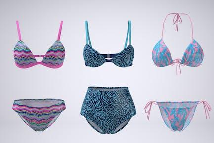 Bikini Swimsuit Mock-up