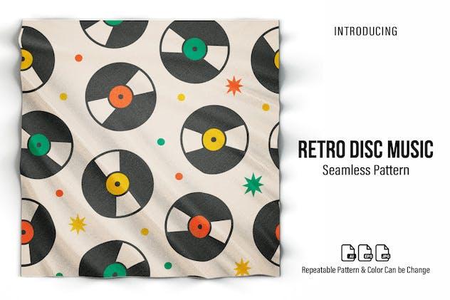 Retro Music Disc Seamless Pattern