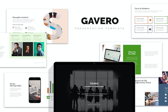 Cover Image For Gavero : Annual Report Google Slides