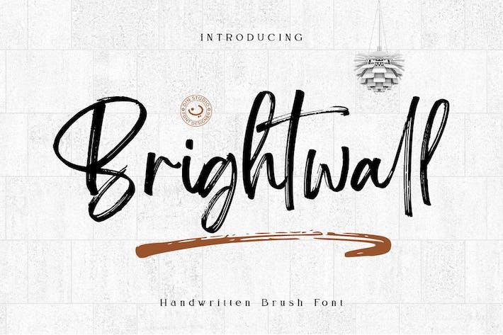Thumbnail for Brightwall - Brush Signature Font