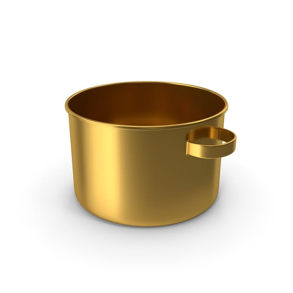 Maceta de oro sin taza