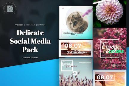 Delicate Natural Social Media Kit