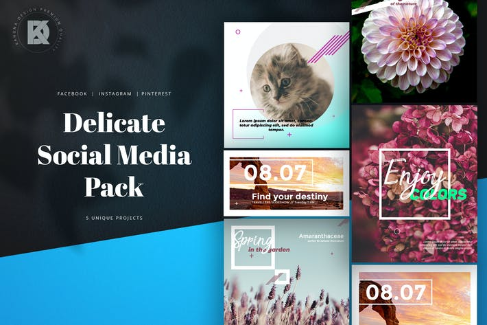 Cover Image For Delicate Natural Social Media Kit