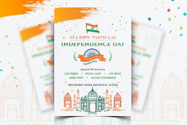 Thumbnail for Indian Independence Day Flyer-03