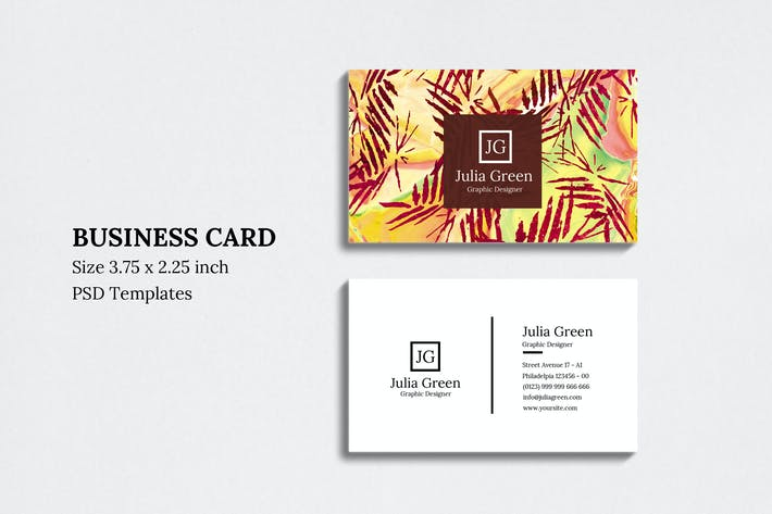Cover Image For Abstract Business Card Vol 08
