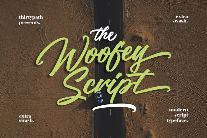 Thumbnail for The Woofey Script Typeface