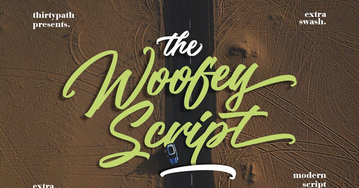 The Woofey Script Typeface by thirtypath