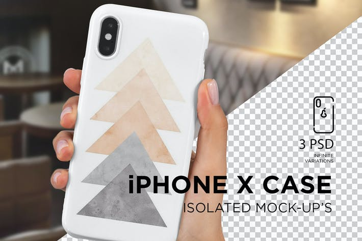 Thumbnail for iPhone X caso Mock-Up aislado