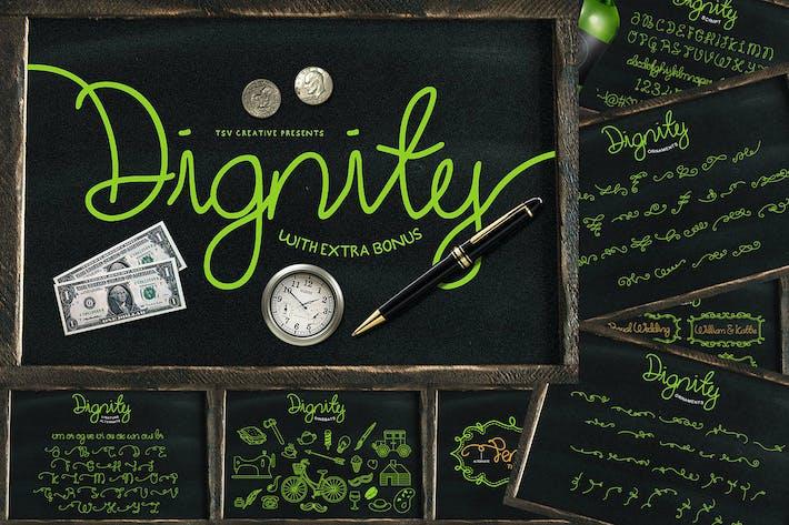 Thumbnail for Dignity Monoline Cursive Script Font