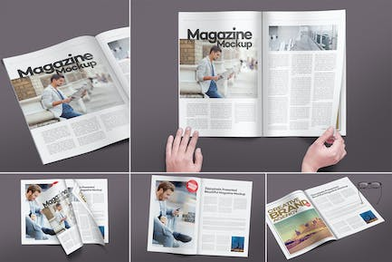 Maquettes Pages Magazine