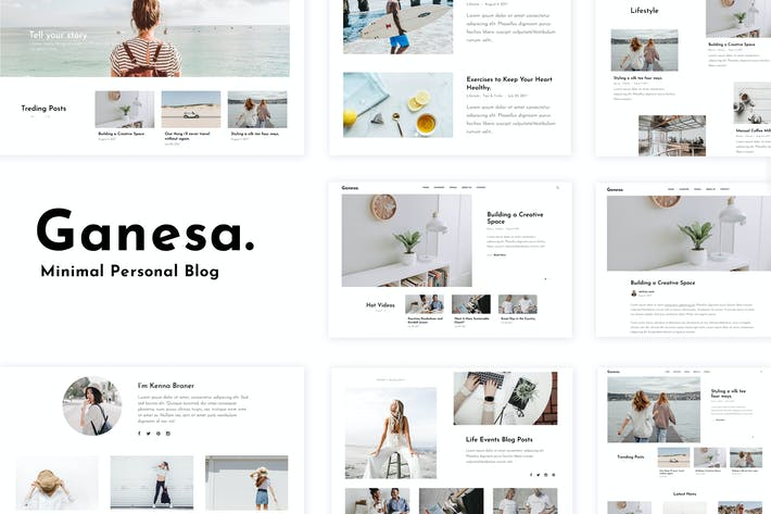 Thumbnail for Ganesa - Minimal WordPress Personal Blog Theme