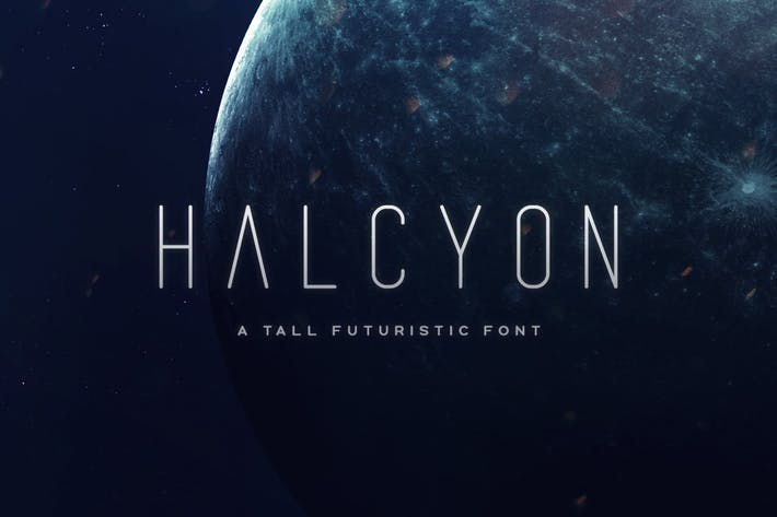 Cover Image For Halcyon Typeface
