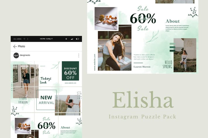 Thumbnail for Elisha - Instagram Puzzle Pack