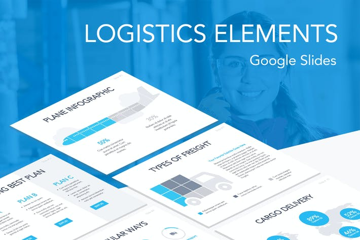Thumbnail for Logistics Elements Google Slides