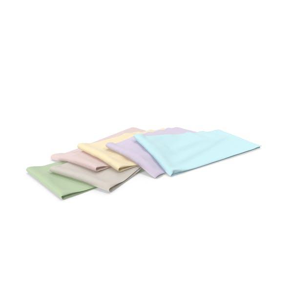 Multi Colored Folded Fabrics