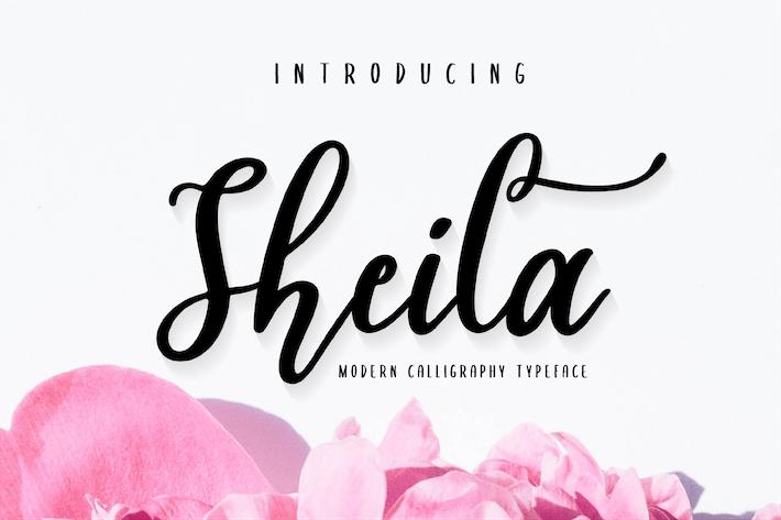 Thumbnail for Sheila - Script Font