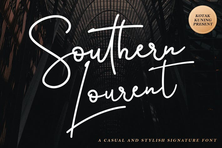 Thumbnail for Southern Lourent Signature Font