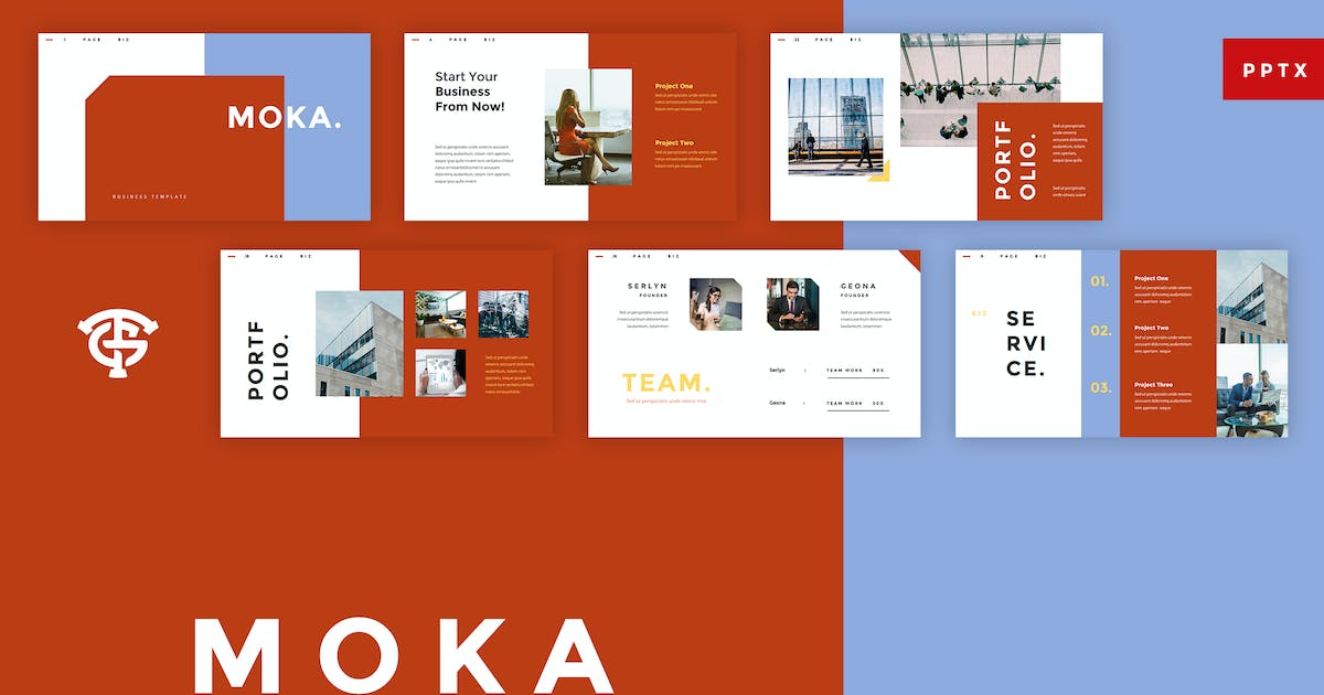 Download Moka Business -  Powerpoint by graptailtype