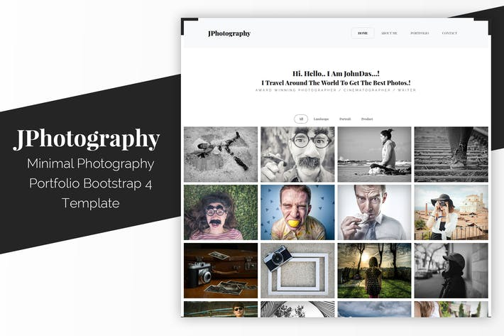Thumbnail for JPhotography - Minimal Photography Portfolio HTML5