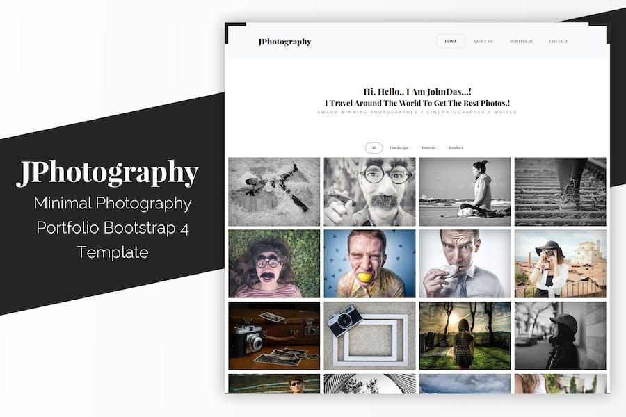 JPhotography - Minimal Photography Portfolio HTML5