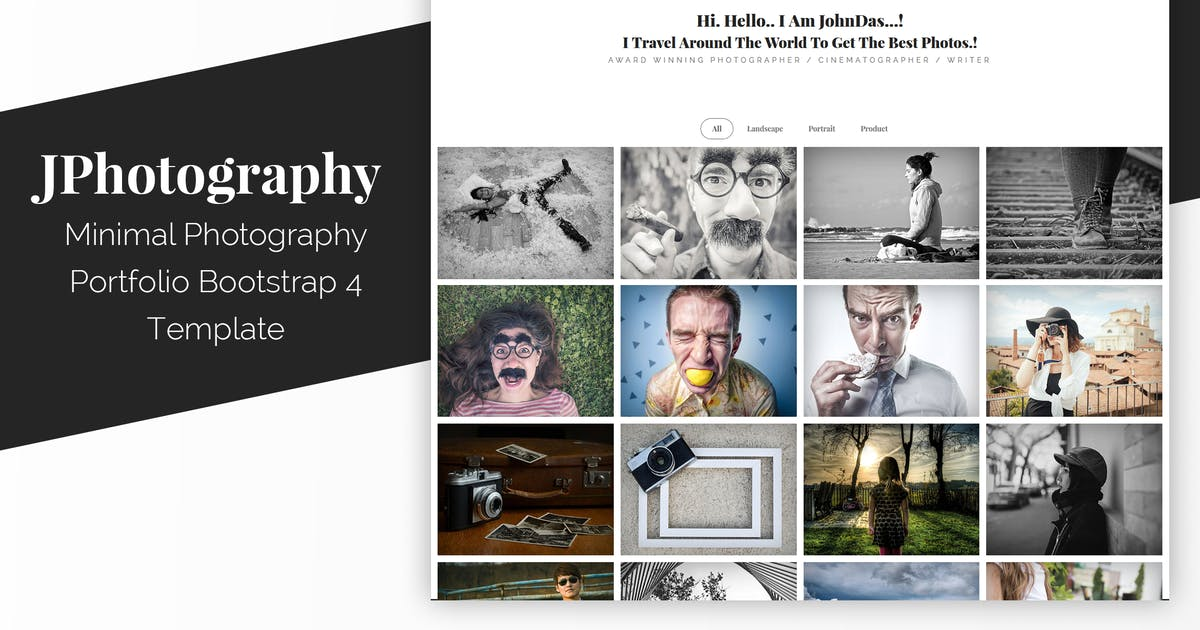 Download JPhotography - Minimal Photography Portfolio HTML5 by Muse-Master