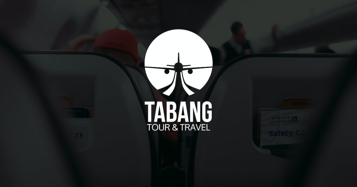 Tabang : Negative Space Plane Logo by punkl
