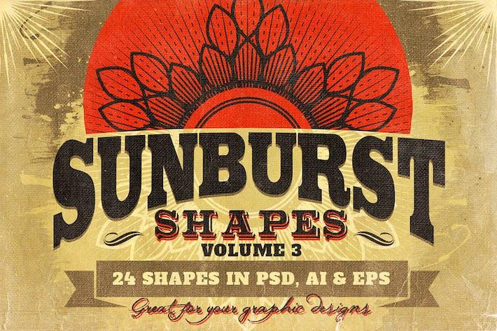 Thumbnail for Sunbursts Shapes Vol.3
