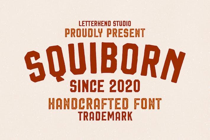 Thumbnail for Squiborn - Logo Font