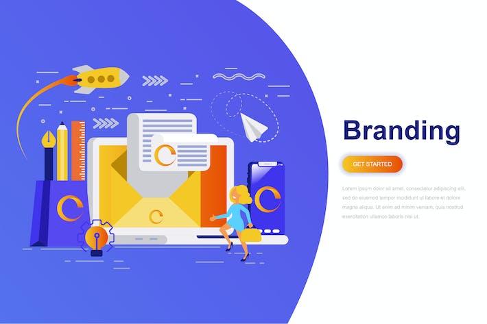 Thumbnail for Branding Modern Flat Concept