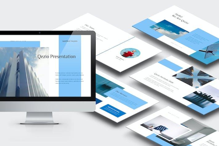 Thumbnail for Qezio : Blue Gradient Color Tone Google Slides