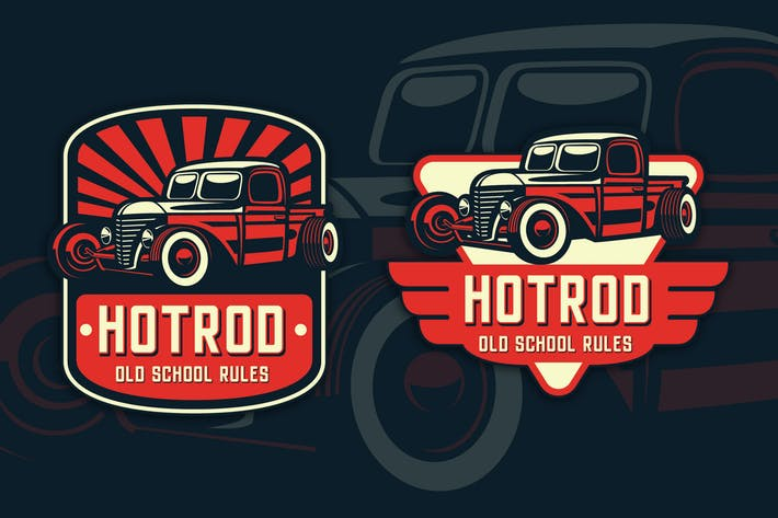Thumbnail for Hotrod Classic Badge Logo Template