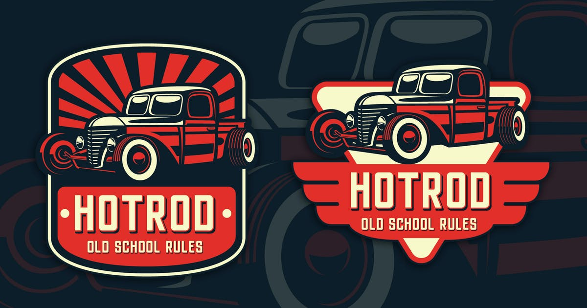 Download Hotrod Classic Badge Logo Template by Blankids