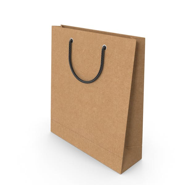 Craft Packaging Bag with Black Handles