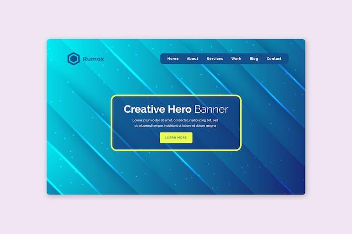 Thumbnail for Rumox - Hero Banner Template