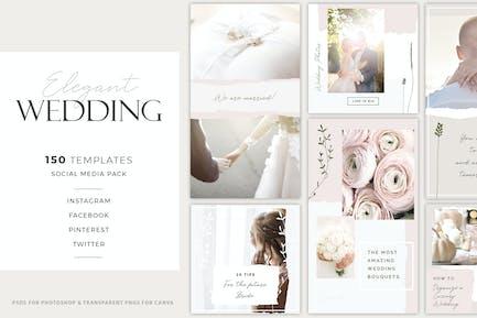 Elegant Wedding Social Media Pack