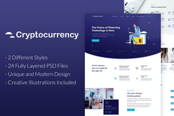 Thumbnail for CryptoCurrency - PSD Template