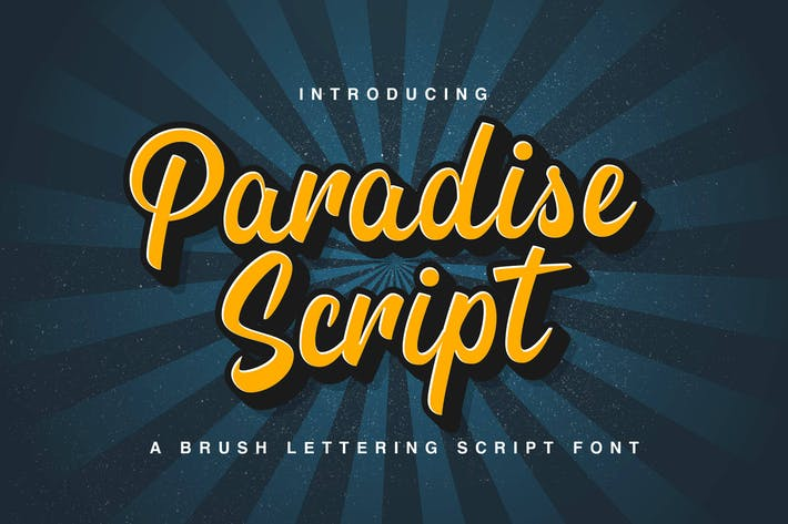 Script Paradise - Police de script moderne