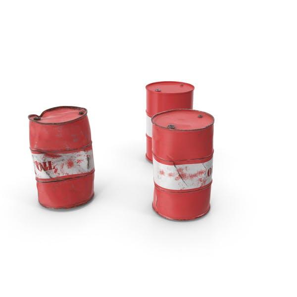 Rohöl-Fässer Set
