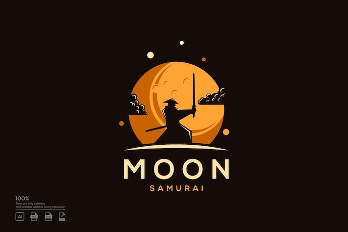 samurai moon logo design