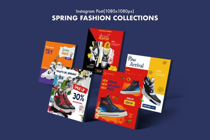 Thumbnail for Spring Collections Instagram Posts
