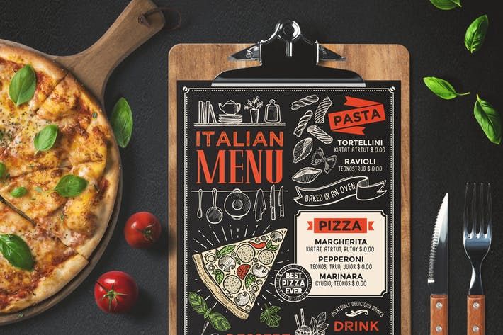 Thumbnail for Pizza Food Menu