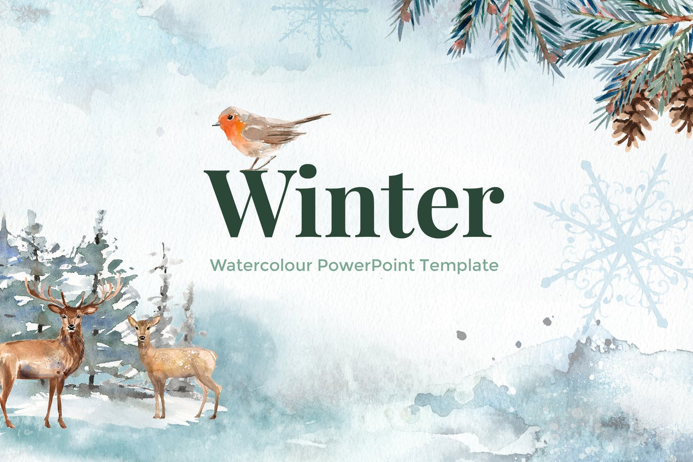 Winter watercolour powerpoint template by site2max on envato winter watercolour powerpoint template by site2max on envato elements alramifo Choice Image